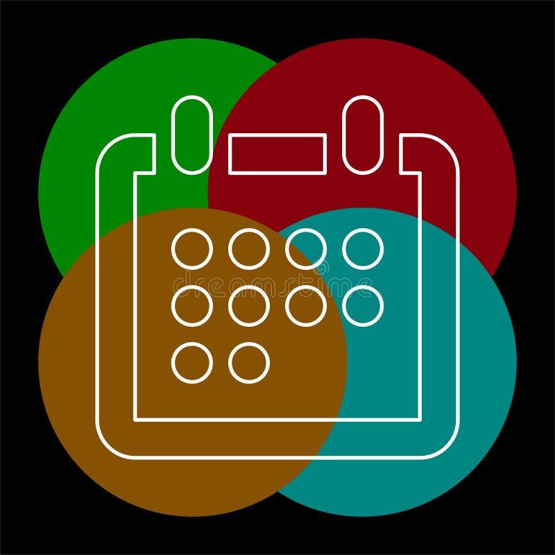 P?minnelse f?r vektorkalenderh?ndelse, reng?ringsduk?rskalender royaltyfri illustrationer