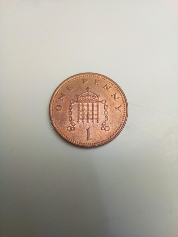 1p moneta obrazy royalty free