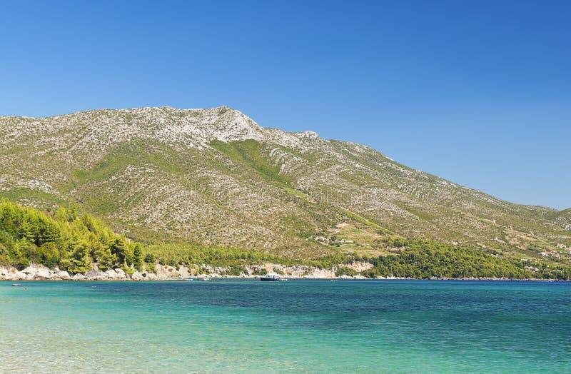 P?ninsule de Peljesac, Croatie photo libre de droits