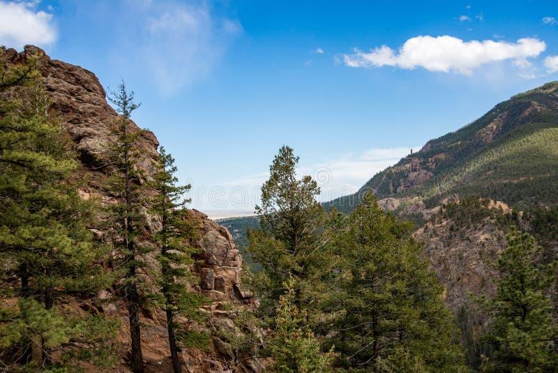 P??nocne Cheyenne jaru kanonu Colorado wiosny zdjęcia royalty free