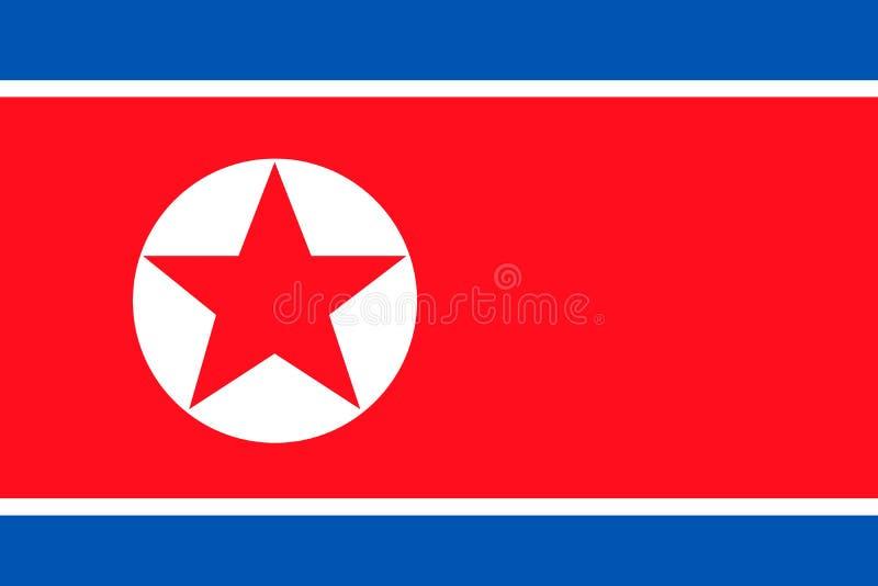 P??nocnego Korea flaga obrazy royalty free
