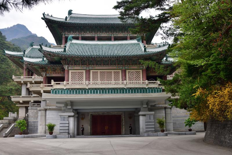 P??nocny Korea Myohyangsan Budynek prezenta muzeum obraz royalty free