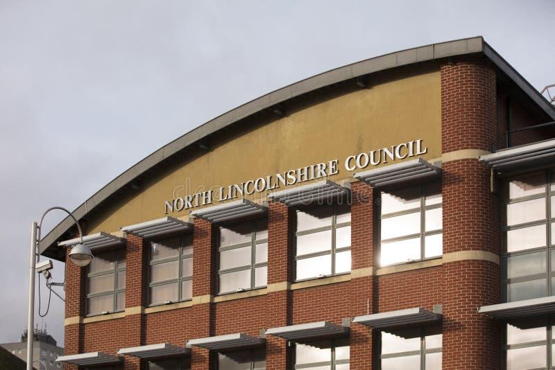 P??nocny Lincolnshire rada budynek w ko?ci?? kwadracie 23rd 2018 Stycze? - Scunthorpe, Lincolnshire, Zjednoczone Kr?lestwo - zdjęcie stock