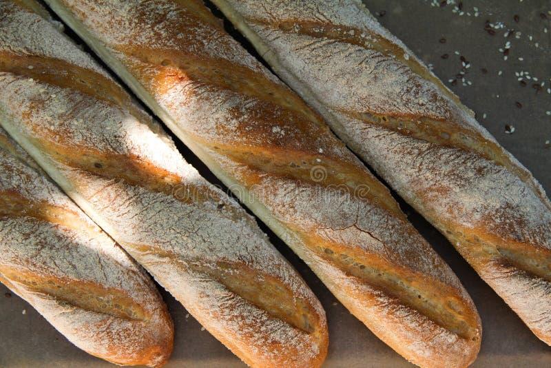 P?o branco do baguette franc?s fotos de stock royalty free