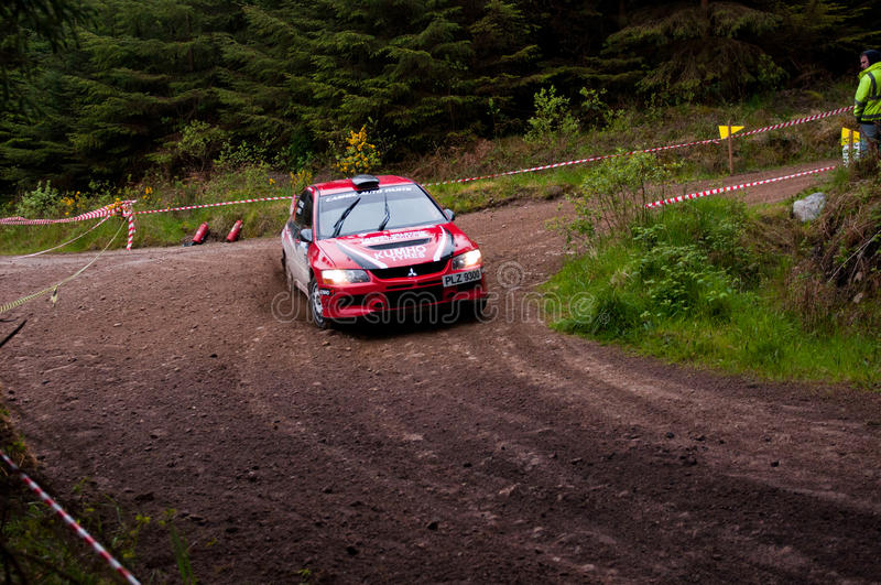 Download P. O' Connell Driving Mitsubishi Evo Editorial Stock Image - Image of driver, racer: 25562329