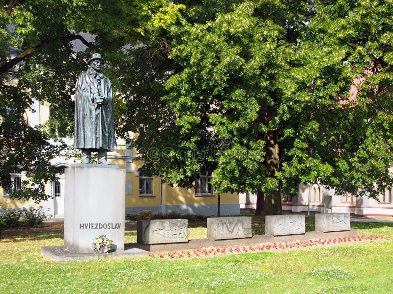 P.O. Hviezdoslav em Dolny Kubin, Eslováquia imagem de stock