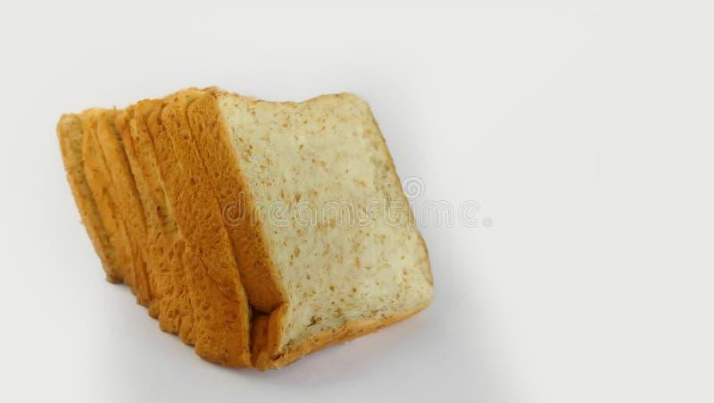 P?o, naco de p?o, p?o cortado, trigo inteiro, alimento foto de stock royalty free