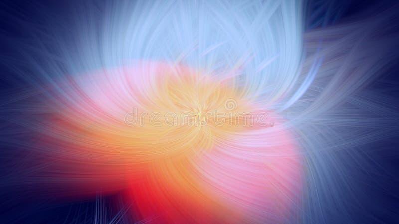 P?omienia fractal t?a ogienia pomara?cze Energia ilustracja wektor