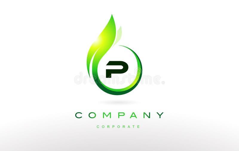 P ontwerp van het het embleem het vectorpictogram van de alfabetbrief vector illustratie