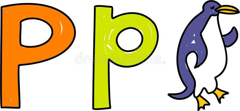 p-pingvin vektor illustrationer