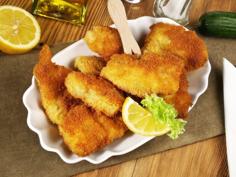 P?pites frites de poissons photos stock