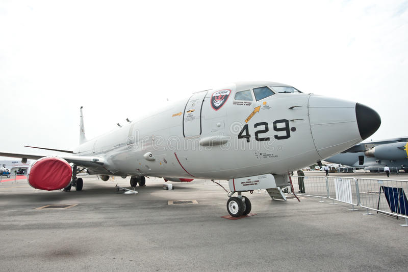 P-8A Poseidon a Singapore Airshow 2014 fotografia stock