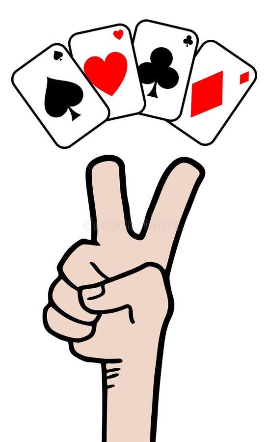 Pôquer da vitória ilustração royalty free