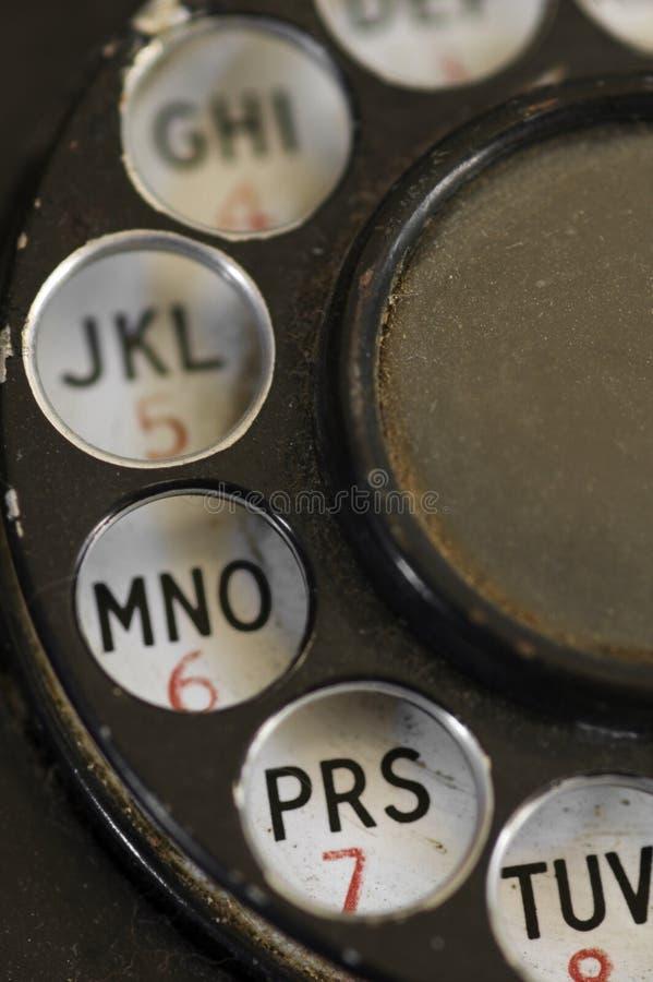 P.R. - téléphone de cadran rotatoire haut proche photos stock