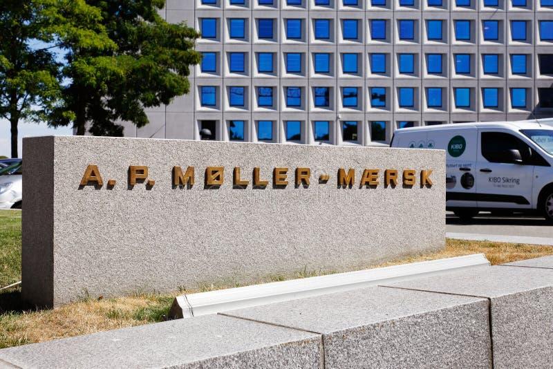 a P Siège social de Moller-Maersk photos stock