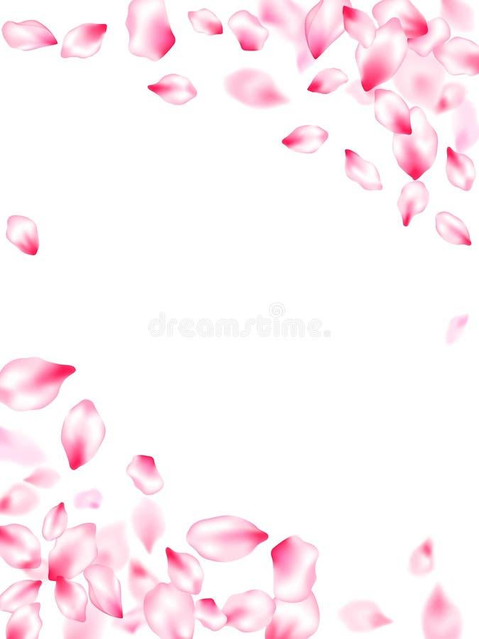 P?talos rosados de la flor de cerezo stock de ilustración