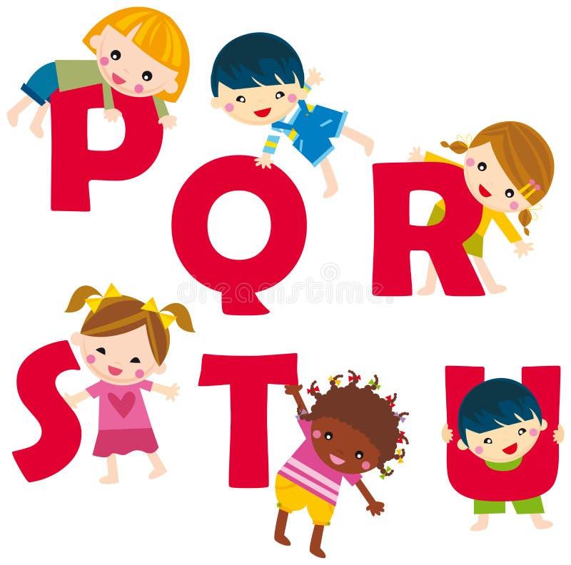 p u alfabet ilustracji