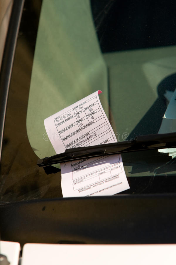 P.-V. invariable de Washington DC sur le pare-brise de véhicule image libre de droits