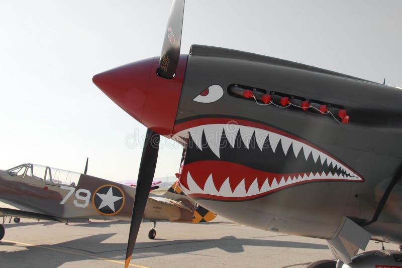 P-40 Warhawk. With sharks teeth stock photography