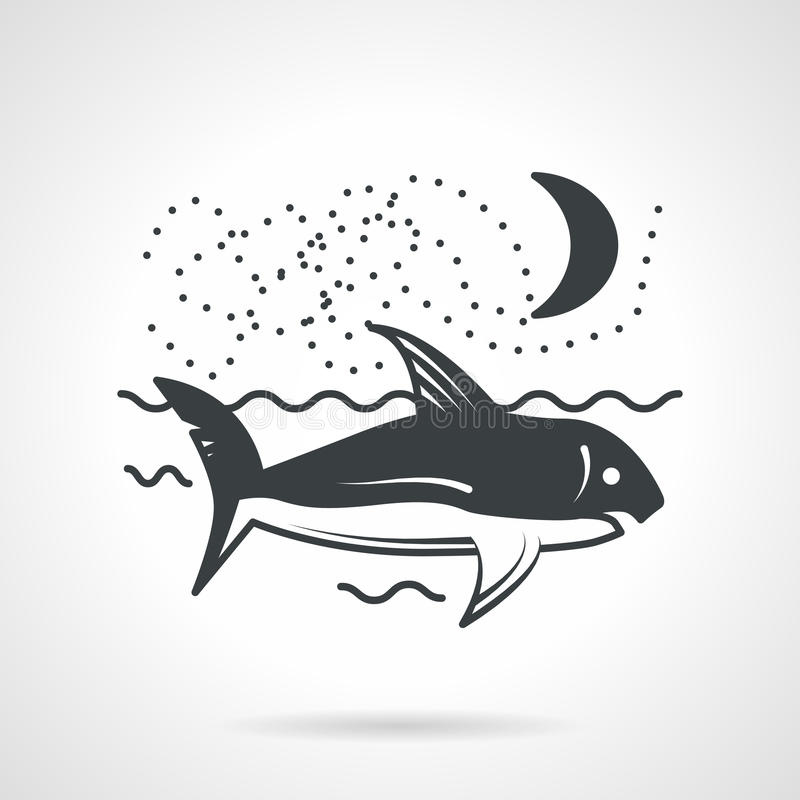 Download Pływacka Rekinu Czerni Wektoru Ikona Ilustracja Wektor - Ilustracja złożonej z tło, niebezpieczny: 53793522