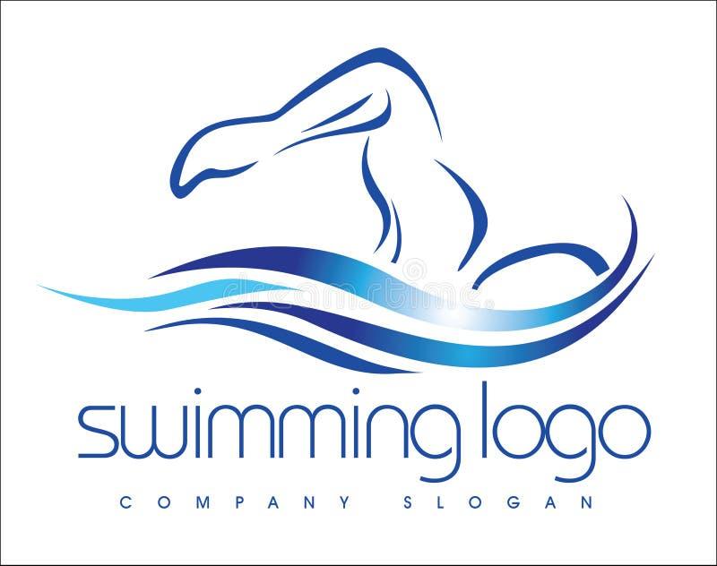 Download Pływacki logo ilustracja wektor. Obraz złożonej z foremność - 35520811