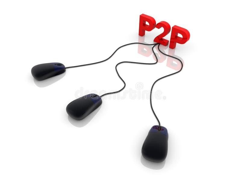 P2P vector illustratie