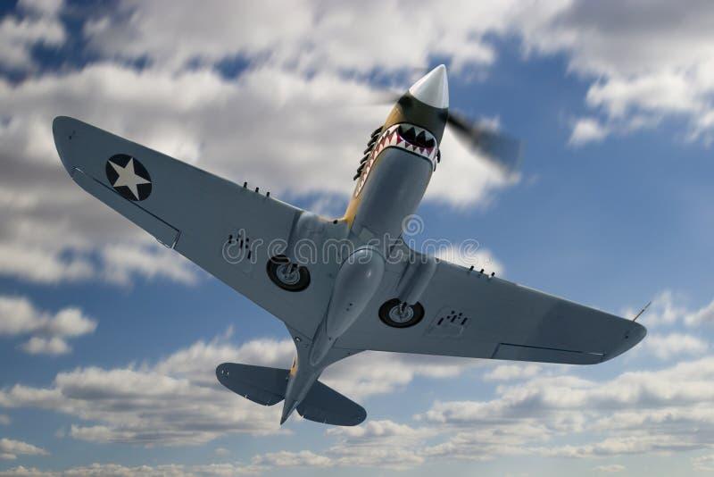 P40E Warhawk foto de archivo libre de regalías