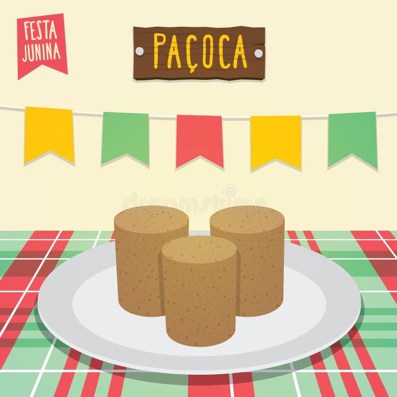 Paçoca - Arachidowy cukierek royalty ilustracja