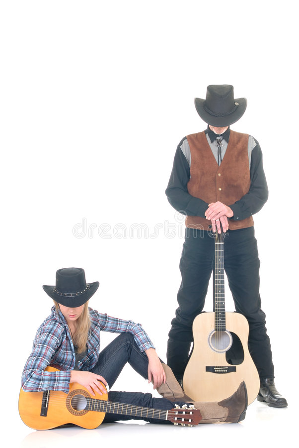 País & cantores ocidentais imagens de stock royalty free
