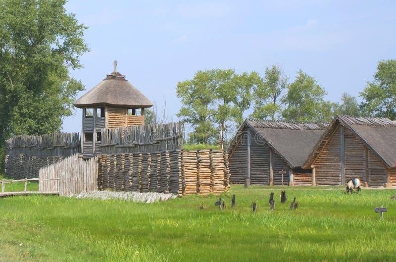 País Biskupin, Polonia fotografía de archivo libre de regalías
