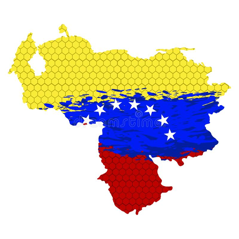 País com bandeira textured ilustração do vetor
