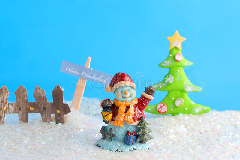 País das maravilhas do inverno foto de stock