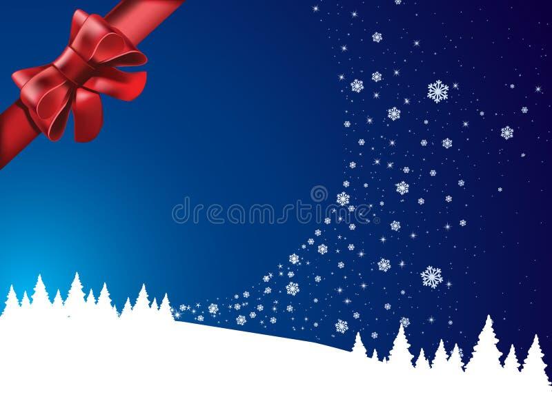 Download País Das Maravilhas Do Inverno Com Curva Vermelha Ilustração do Vetor - Ilustração de feriado, estações: 16863264