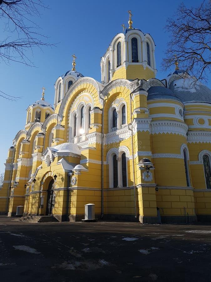 País das maravilhas do inverno no parque do Kiew bonito fotografia de stock royalty free