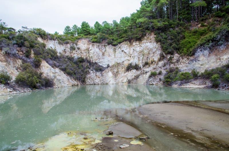 País das maravilhas do Thermal de Wai-O-Tapu fotografia de stock royalty free