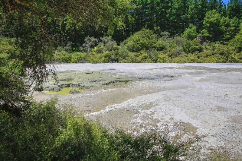 País das maravilhas térmico de Wai-O-Tapu, Rotorua, Nova Zelândia fotografia de stock