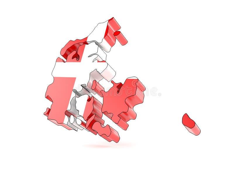 País de Dinamarca ilustração stock