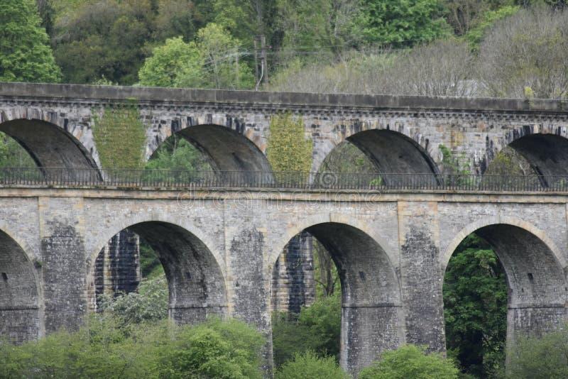 País de Gales, el valle de Ceiriog, Chirk La frontera de Inglaterra-País de Gales Un sitio de la herencia de la UNESCO El acueduc fotos de archivo