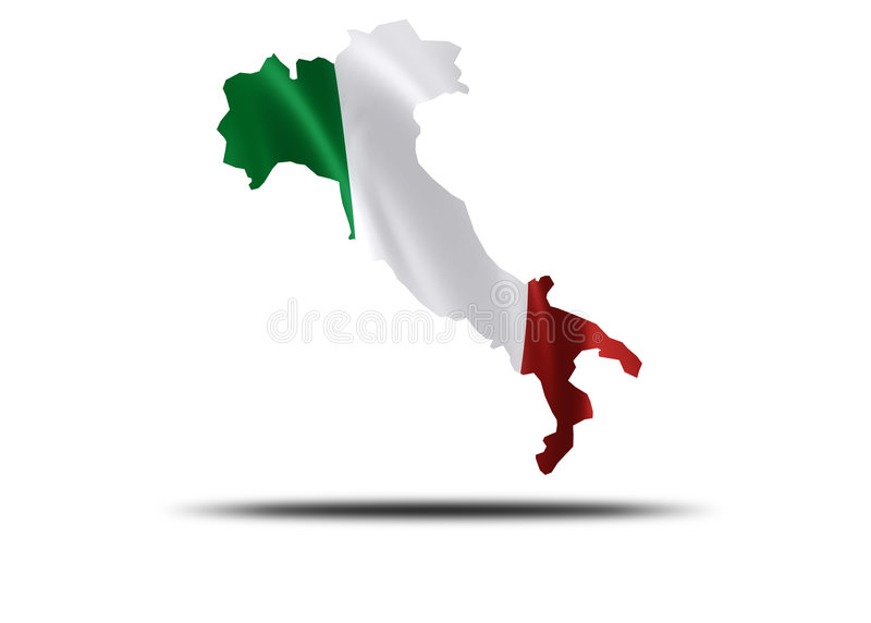 País de Italy ilustração stock