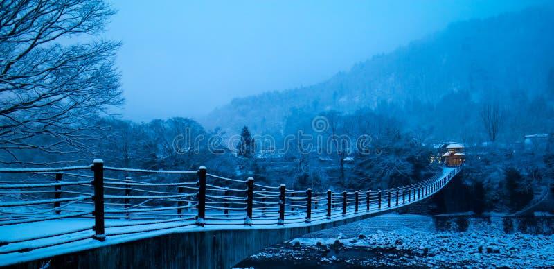 País de la nieve por la mañana imágenes de archivo libres de regalías