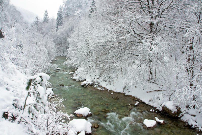 País de las maravillas del invierno de la vendimia fotos de archivo