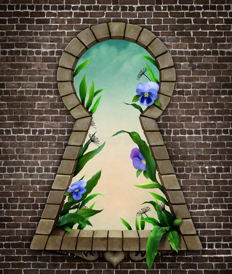 País de las maravillas del ojo de la cerradura ilustración del vector