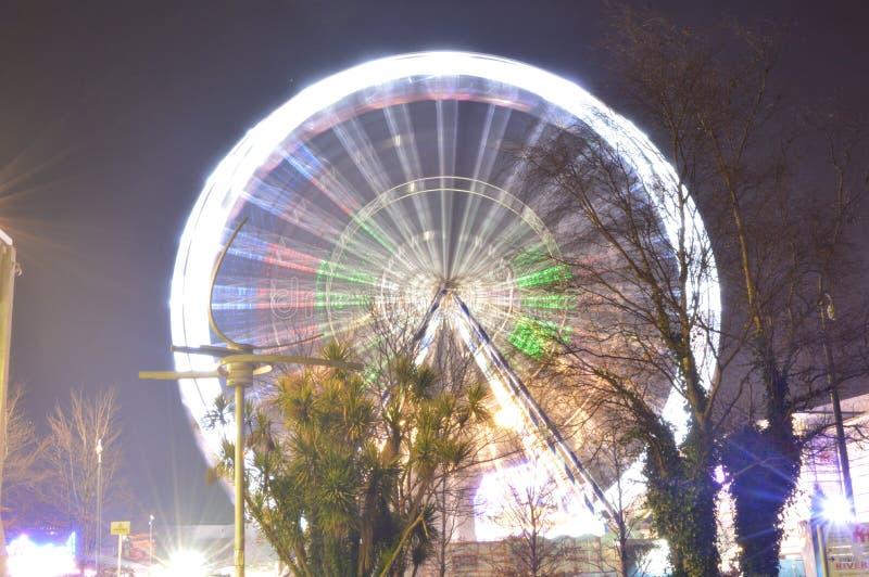País de las maravillas Ferris Wheel del invierno fotos de archivo
