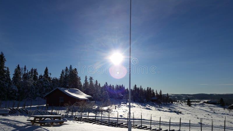 País de las maravillas principios de diciembre Noruega del invierno fotos de archivo libres de regalías