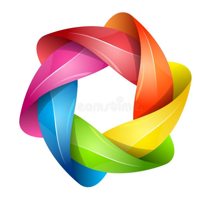 País del movimiento del color de los busines del Internet del Web del recorrido del planeta de la tierra del círculo del globo libre illustration