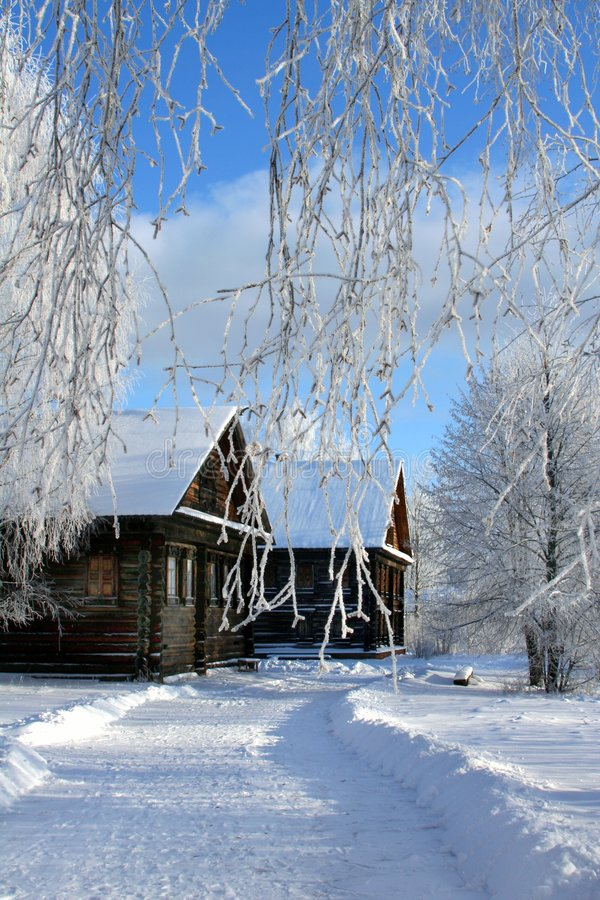 País do russo do inverno imagem de stock