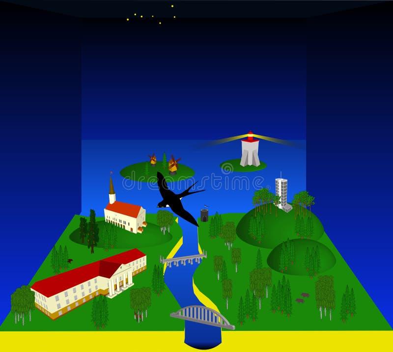 País estonio ilustración del vector
