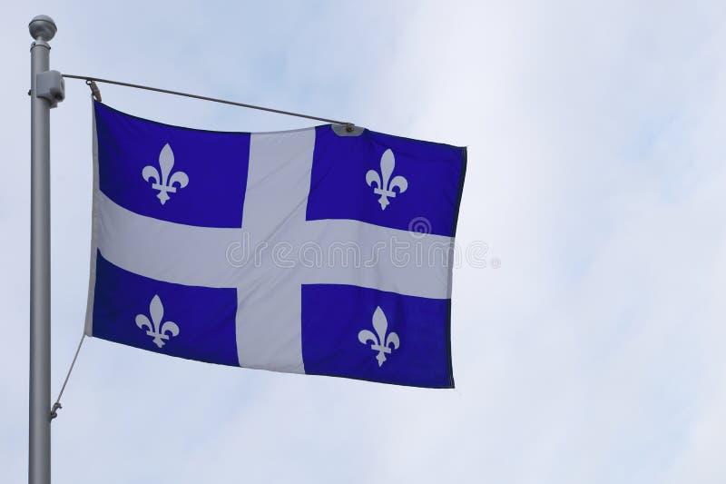 País francés de la nación del símbolo de la provincia de Canadá de la bandera de Quebec imagen de archivo libre de regalías