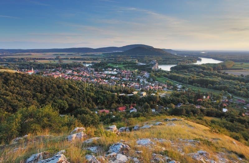 País rural del paisaje en la ciudad de Bratislava fotos de archivo libres de regalías