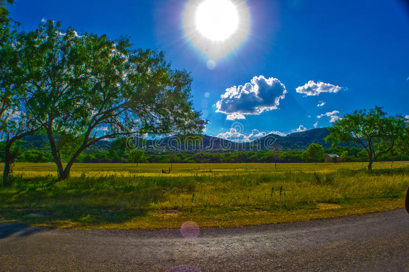 País Sunny Summer Bliss de Garner State Park Texas Hill imagem de stock royalty free